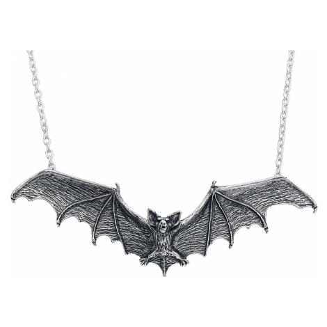 Alchemy Gothic Gothic Bat Pendant Necklace silver coloured