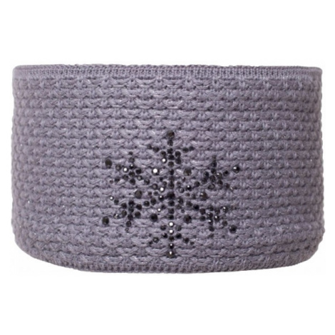 R-JET FASHION EXCLUSIVE STŘÍBRNÝ LUREX gray - Women's knitted headband