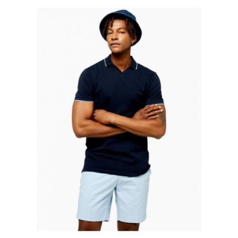 Mens Selected Homme Navy King Organic Cotton Polo, Navy