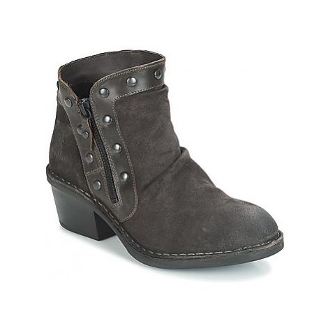 Fly London DUKE women's Low Ankle Boots in Black