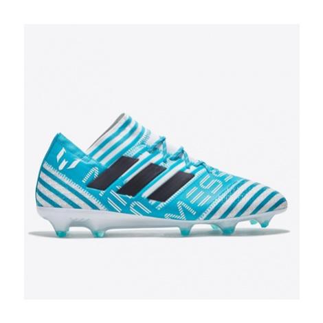 Adidas Nemeziz Messi 17.1 Firm Ground Football Boots - White/Legend Ink/Energy Blue