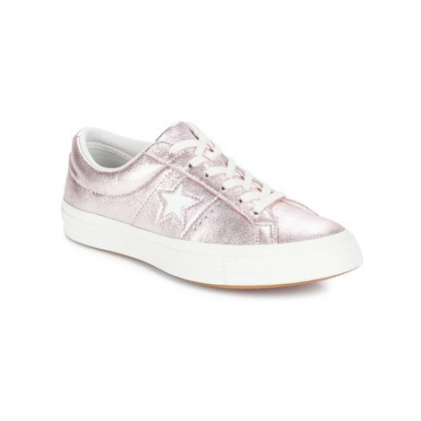 Converse ONE STAR OX women's Shoes (Trainers) in Pink