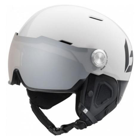 Bolle MIGHT VISOR PHOTOCHROMIC PREMIUM white - Downhill helmet with visor