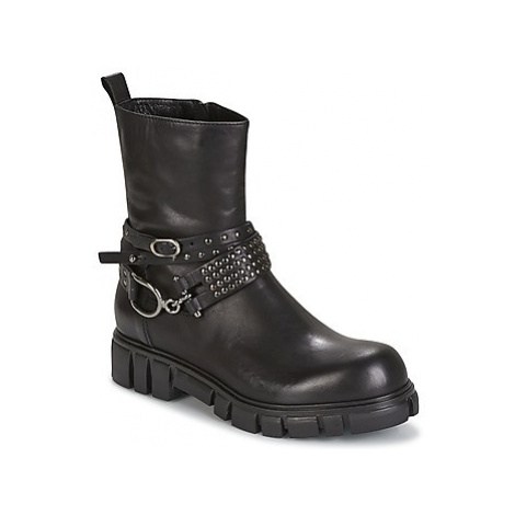 Now POPOULA women's Mid Boots in Black
