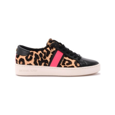 MICHAEL Michael Kors sneaker in animalier pony and black leather women's Shoes (Trainers) in Bei