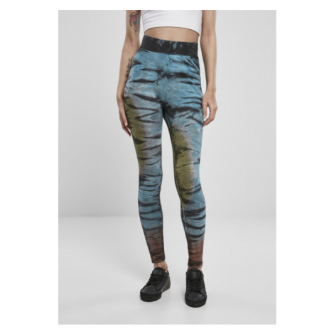 Urban Classics Ladies Cotton Tie Dye High Waist Leggings black