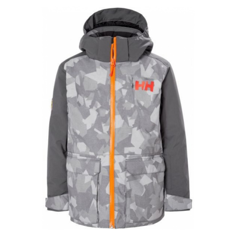 Helly Hansen JR SKYHIGH JACKET grey - Kids' skiing jacket
