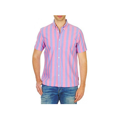 Ben Sherman BEMA00487S men's Short sleeved Shirt in Pink