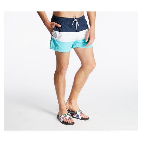 FILA Saloso Swim Shorts Black Iris/ Bright White/ Blue Curacao