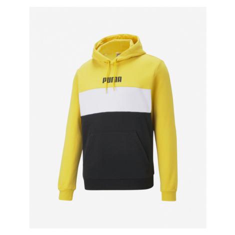 Puma Block Sweatshirt Black Yellow White