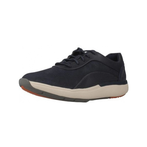 Clarks UN CRUISE LACE NAVY COMBI women's Shoes (Trainers) in Blue