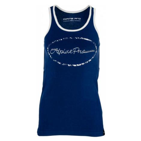 ALPINE PRO CALDWELLA dark blue - Women's tank top