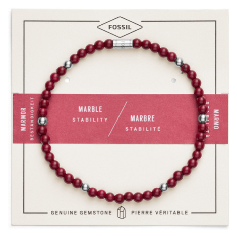 Fossil Women Red Marble Bracelet - One size