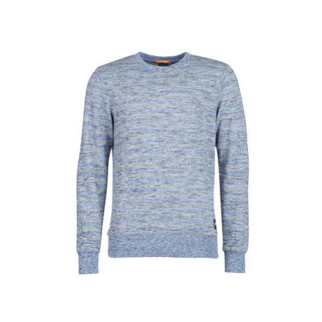 Scotch Soda AMS BLAUW INDIGO SWEAT WITH ALLOVER PRINTS men's Sweatshirt in Grey Scotch & Soda
