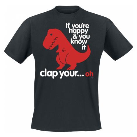 Goodie Two Sleeves - Sad T-Rex - T-Shirt - black