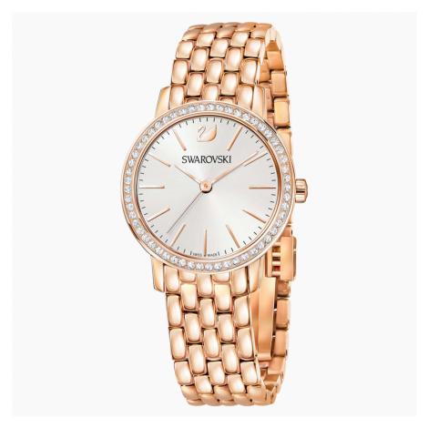 Graceful Watch, Metal bracelet, Rose-gold tone PVD Swarovski