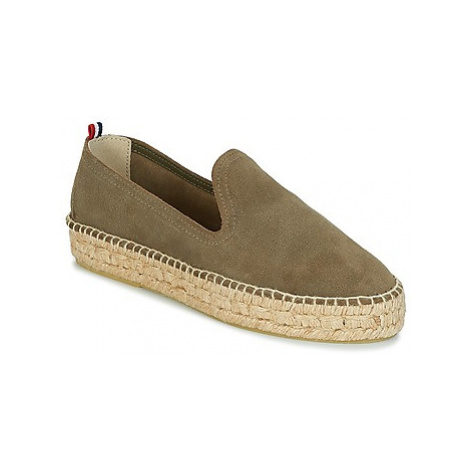 1789 Cala SLIP ON DOUBLE LEATHER women's Espadrilles / Casual Shoes in Kaki