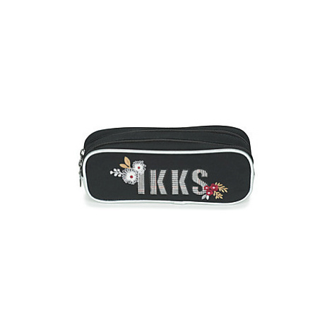 Ikks BLACK TEA TROUSSE DOUBLE girls's Children's Cosmetic bag in Black