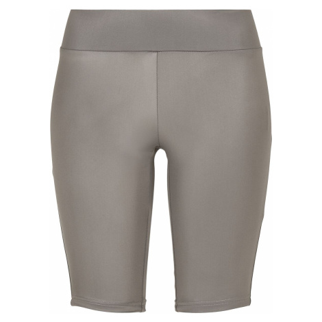 Urban Classics Ladies Imitation-Leather Cycle Shorts Shorts grey