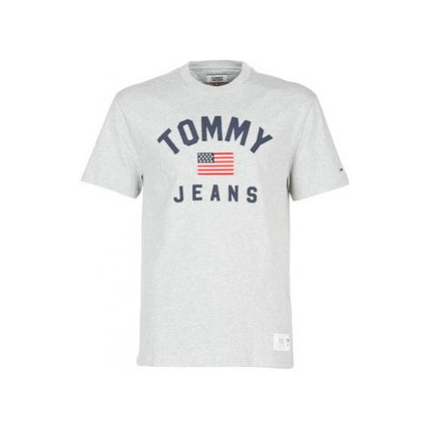 Tommy Jeans TJM USA FLAG TEE men's T shirt in Grey Tommy Hilfiger