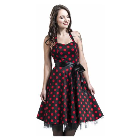 H&R London - Polka Dot Dress - Dress - black-red