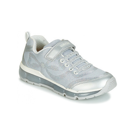 Geox J ANDROID GIRL girls's Children's Shoes (Trainers) in Silver