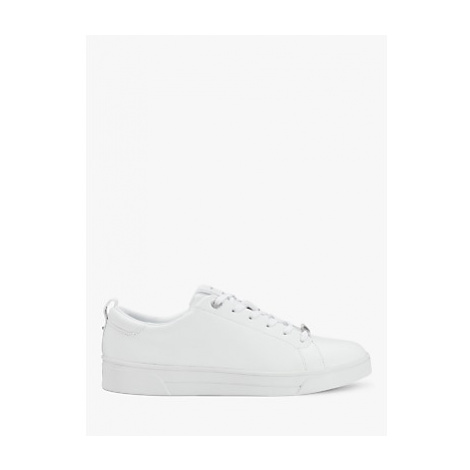 Ted Baker Tedah Leather Lace Up Trainers, White