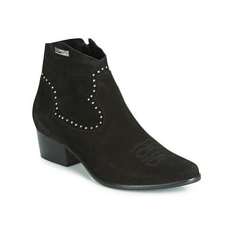 Les Tropéziennes par M Belarbi ASTRID women's Low Ankle Boots in Black