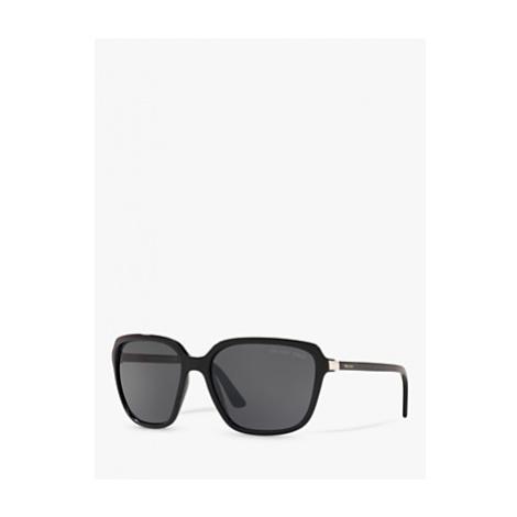Prada PR 10VS Women's Heritage Polarised Square Sunglasses, Black/Grey