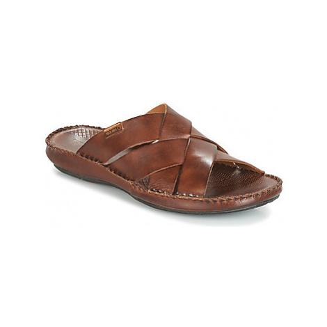 Brown men's slippers