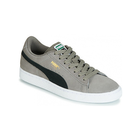 Puma JR SUEDE CLASSIC.CHARCO-BL boys's Children's Shoes (Trainers) in Grey