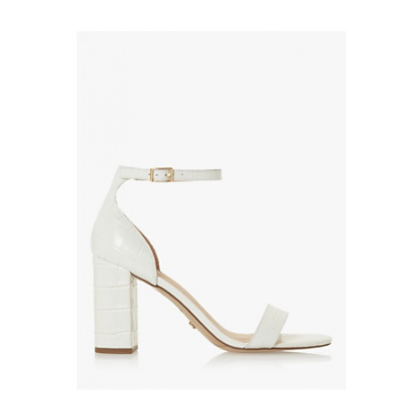 Dune Madam Leather High Sandals, White