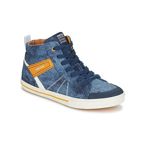 Geox J KILWI B. H boys's Children's Shoes (High-top Trainers) in Blue