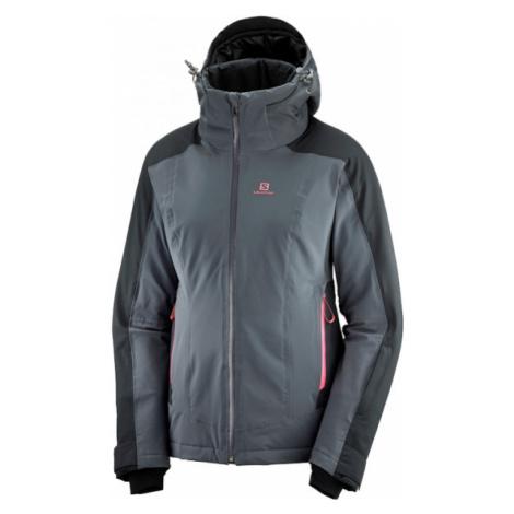 Salomon BRILLIANT JKT W grey - Women's ski jacket