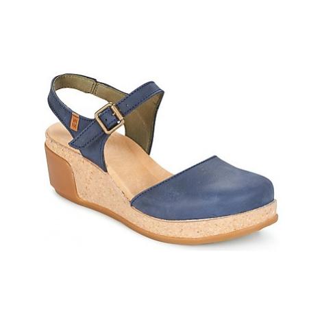 El Naturalista LEAVES women's Sandals in Blue