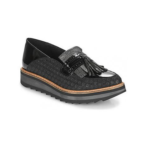 Regard RINOVI V2 COMET NERO women's Loafers / Casual Shoes in Black