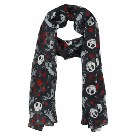 The Nightmare Before Christmas - Jack Skellington - Ghost & Roses - Scarf - multicolour