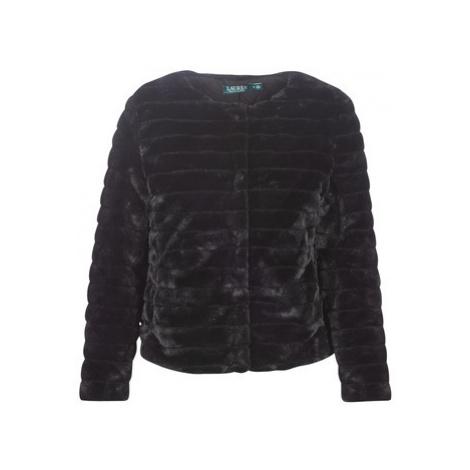 Lauren Ralph Lauren FAUX CHUBBY women's Coat in Black