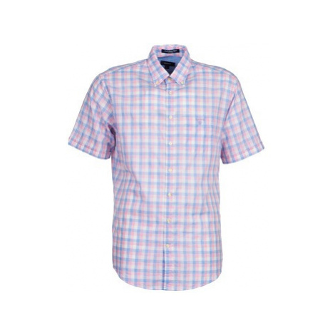 Gant L. MALIBU HEATH men's Short sleeved Shirt in Pink