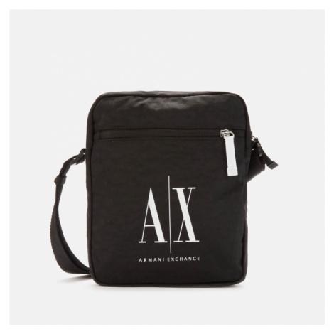 Armani Exchange Men's Ax Logo Cross Body Bag - Black