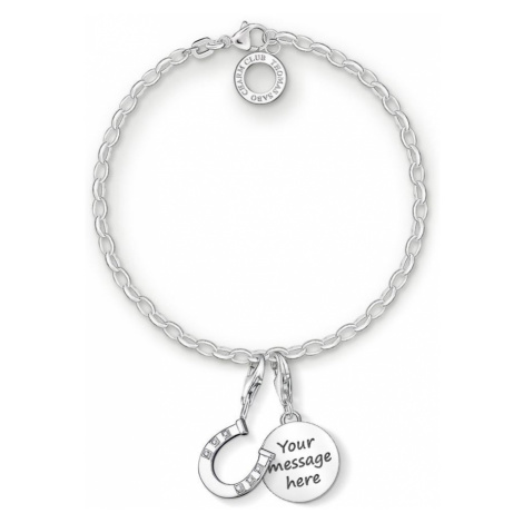 THOMAS SABO Engravable Silver Horseshoe Charm Bracelet