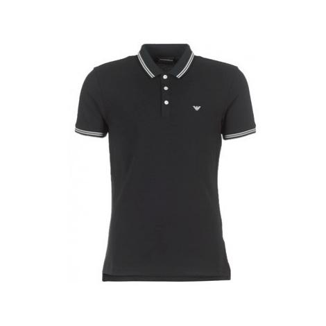 Emporio Armani TAMWU men's Polo shirt in Black