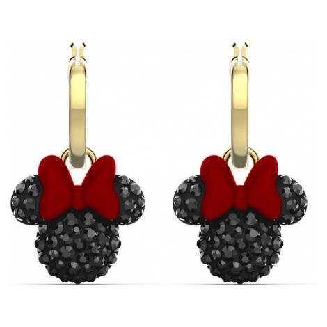 Swarovski Minnie Black Crystal 2-in-1 Hoop Earrings