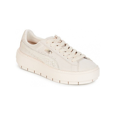 Puma WN PLATFORM TRACE ANIMAL.W women's Shoes (Trainers) in White
