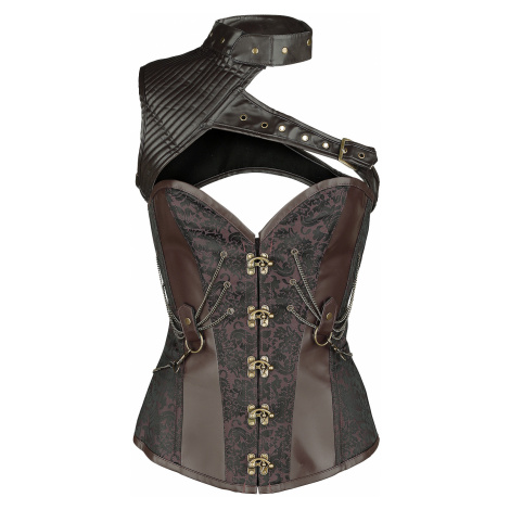 Ocultica - Corset with Shoulder Section - Corsage - brown