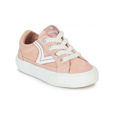 Victoria TRIBU LONA RETRO girls's Children's Shoes (Trainers) in Pink