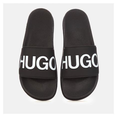 HUGO Men's Match Slide Sandals - Black - UK Hugo Boss