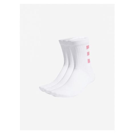 adidas Performance 3-Stripes HC Crew Socks 3 pairs White