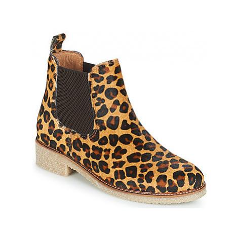 Bensimon BOOTS CREPE women's Mid Boots in Beige
