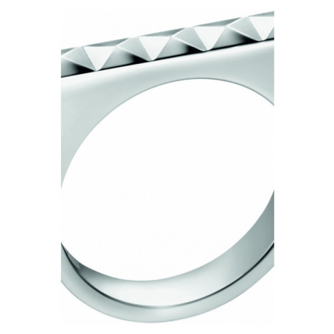 Ladies Calvin Klein Stainless Steel Size N Edge Ring KJ3CMR000107